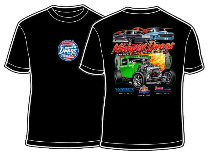 Black T-shirts for Midwest Drags 2019