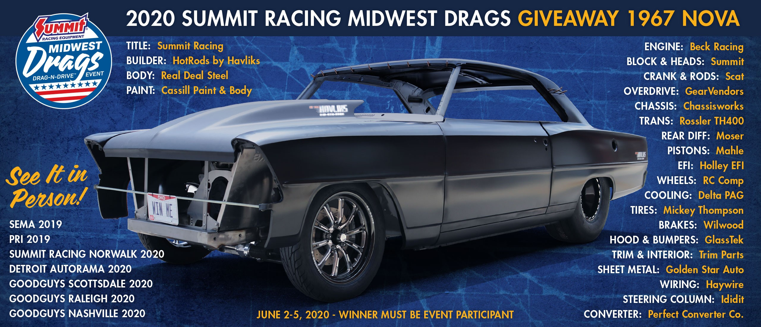 Midwest Drags Give-a-way Car